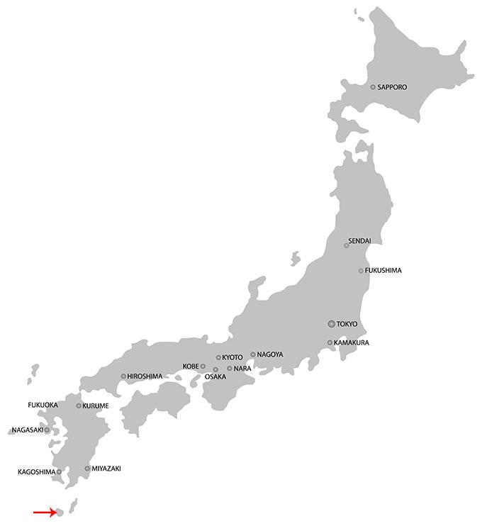 Yakushima på kartan